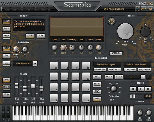 Sonivox Sampla Hip Hop Production Sampler